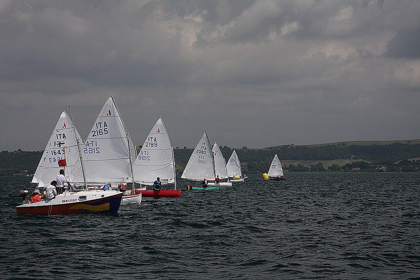 barche in regata durante trofeo fosco santini 2011